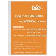 Envelope canguru em sarja 015 com tarja lateral formato externo 179 x 250 mm (tarja 9 mm) (Ref. 3034D)