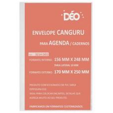 Envelope canguru em sarja 015 com tarja lateral formato externo 170 x 250 mm (tarja 10 mm) (Ref. 3214D)