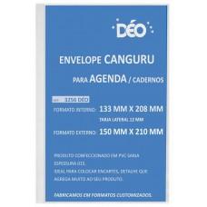 Envelope canguru em sarja 015 com tarja lateral formato externo 150 x 210 mm (tarja 12 mm) (Ref. 3256)