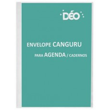 Bolsa plástica tipo canguru - envelope canguru para agenda / cadernos (Ref. EV01)