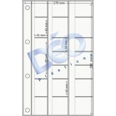 Linha Ortodôntica - Porta periapical com 19 divisões (Ref. 509) - Embalagem com 100 unidades