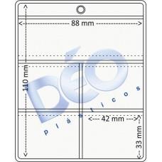 Linha Ortodôntica - Porta periapical com 5 divisões (Ref. 511) - Embalagem com 100 unidades