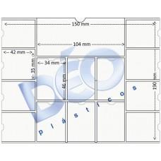 Linha Ortodôntica - Porta periapical com 14 divisões (Ref. 515) - Embalagem com 100 unidades