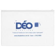 Pasta malote / pasta plástica transparente em PVC com zíper plástico horizontal (Ref. GR003)