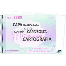 Capa Para Caderno CARTOGRAFIA - recomendável p/ cadernos c/ Espiral Capa Solta (horizontal) - Embalagem com 5 ou 50 JG - LANÇAMENTO