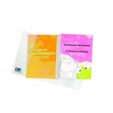 Capas Plásticas P/ caderno UNIVERSITÁRIO recomendável para caderno c/ espiral de 10 matérias  (Ref. 601) - Embalagem com 5 ou 50 unidades