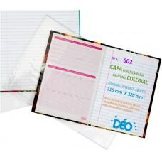 Capas Plásticas P/ caderno colegial  (capa dura / brochura) (Ref. 602) - Embalagem com 50 unidades