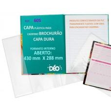 Capas Plásticas P/ caderno brochurão (capa dura)  (Ref. 605) - Embalagem com 50 unidades