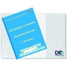 Capas Plásticas P/ caderno BROCHURÃO (capa dura)  recomendável p/ cadernos capa dura c/ 48 ou 96 folhas (Ref. 605) - Embalagem com 5 ou 50 unidades