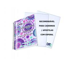 Capas Plásticas Solta P/ caderno UNIVERSITÁRIO/ APOSTILAS - c/ espiral - capa solta (jogo = capa e contra capa) (Ref. 607) - Embalagem com 5 ou 50 unidades