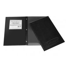 Cardápios e Comandas - C/ 5 divisões - A4 gravação baixo relevo. bolsa. 3 parafusos de metal (7mm). Padrão p/ 10 páginas. c/ a opção para expandir as divisões ref. 410 TRS (Ref. 630)