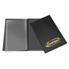 Cardápios e Comandas - C/ 2 divisões - A4 almofadado com gravação dourada p/ 6 páginas  (Ref. 650)