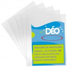 Envelopes de Polietileno A4 - Pacotes Práticos De Envelopes - Fino c/ 4 furos (Ref. 463) - Embalagem com 50 unidades