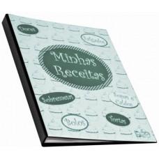 Fichário para Receitas - Fichário A4 p/ receitas culinárias c/ 1 jogo de 50 folhas (Ref. 627)