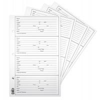 Refil - P/ índice telefônico profissional (ref. 684) - Folhas avulsas p/ ref. 684 (Ref. 933)  - Embalagem com 100 unidades