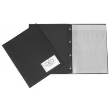 Pasta Catálogo A4 - Capa grossa c/ visor, bolsa, 10 envelopes médios e 4 colchetes (Ref. 404)