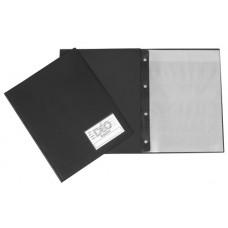 Pasta Catálogo A4 - Capa fina c/ visor, 30 envelopes finos e 4 colchetes (Ref. 492)