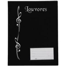 Pasta Catálogo Louvores 1/2 Ofício - C/ visor, 10 envelopes finos e 3 colchetes (gravação louvores) (Ref. 221)