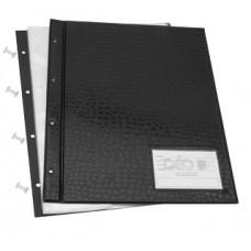 Pasta Catálogo Ofício - C/ lombo aberto e visor (capa ref. 606), C/ 30 envelopes médios e 4 parafusos de metal  (Ref. E68)