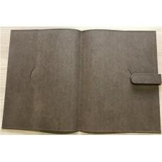 Pasta convenção apresentação costurada em couro sintético com 2 laterais (Ref. 4532)