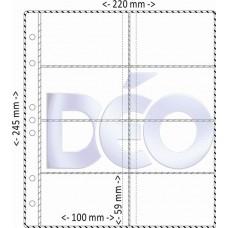 Porta Cartões - Divisões - Em PVC Sarja - Refil para ref. 679 (Ref. E67)  - Embalagem com 50 unidades