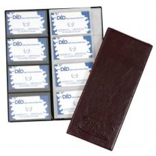 Porta Cartões Pessoal - P/ 80 cartões c/ gravação em baixo relevo (Ref. 672)