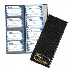 Porta Cartões Pessoal - P/ 80 cartões c/ gravação dourada (Ref. 672)