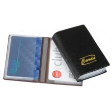 Porta Cartões Pessoal - P/ 14 cartões c/ gravação dourada (Ref. 772) - Embalagem com 10 unidades