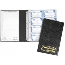 Porta Cartões Profissional - P/ 400 cartões c/ gravação dourada (Ref. 679)