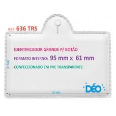 Identificadores p/ Botão - Transparente ou coloridos - Grande p/ botão c/ impresso  (Ref. 636) - Embalagem com 50 unidades