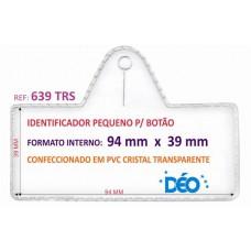 Identificadores p/ Botão - Transparente ou coloridos - Pequeno p/ botão c/ impresso  (Ref. 639) - Embalagem com 50 unidades