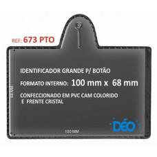Identificadores p/ Botão - Transparente ou coloridos - Grande p/ botão c/ cartão  (Ref. 673) - Embalagem com 50 unidades