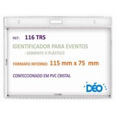 Identificadores - Transparentes s/ acessórios - Horizontal - s/ cordão / clips  (Ref. 116) - Embalagem com 50 unidades