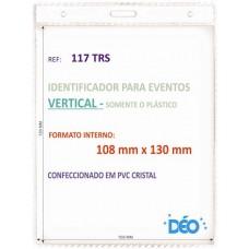 Identificadores - Transparentes s/ acessórios - Vertical - s/ cordão / clips  (Ref. 117) - Embalagem com 50 unidades