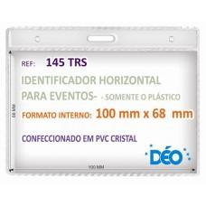 Identificadores - Transparentes s/ acessórios - Horizontal - s/ cordão / clips  (Ref. 145) - Embalagem com 50 unidades
