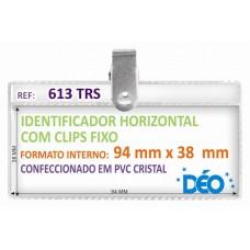 Identificadores - Transparentes c/ clips - Pequeno c/ clips fixo e impresso  (Ref. 613) - Embalagem com 50 unidades