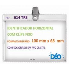 Identificadores - Transparentes c/ clips - Grande c/ clips fixo e impresso  (Ref. 614) - Embalagem com 50 unidades