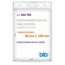 Identificadores - Transparentes s/ acessórios - Vertical - s/ cordão / clips  (Ref. 644) - Embalagem com 50 unidades