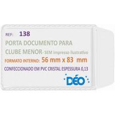 Porta Documentos - S/ impressos ilustrativos - P/ clube (menor) (Ref. 138) - Embalagem com 50 unidades