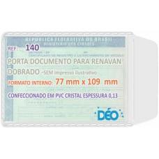 Porta Documentos - S/ impressos ilustrativos - P/ identidade e Renavam (novo/dobrado) (Ref. 140) - Embalagem com 50 unidades