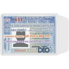 Porta Documentos - C/ impressos ilustrativos - P/ CNH / habilitação (Ref. 633) - Embalagem com 50 unidades