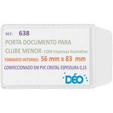 Porta Documentos - C/ impressos ilustrativos - P/ clube (menor) (Ref. 638) - Embalagem com 50 unidades