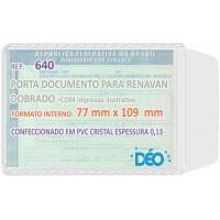 Porta Documentos - C/ impressos ilustrativos - P/ identidade e Renavam (novo/dobrado) (Ref. 640) - Embalagem com 50 unidades
