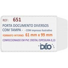 Porta Documentos - C/ impressos ilustrativos - P/ diversos (Ref. 651) - Embalagem com 50 unidades