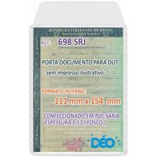 Porta Documentos - S/ impressos ilustrativos - C/ tampa P/ documento de veículo digital (DUT)  (Ref. 698) - Embalagem com 50 unidades