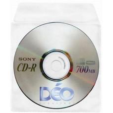 Protetores Transparentes - P/ CD / DVD - P/ CD c/ tampa s/ furos (Ref. 115) - Embalagem com 50 unidades