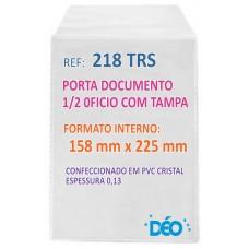 Protetores Transparentes - C/ aba - tipo envelope - C/ tampa - 1/2 ofício (Ref. 218) - Embalagem com 50 unidades