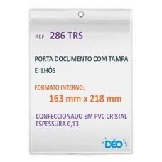 Protetores Transparentes - Em PVC com ilhós para pendurar - C/ tampa e ilhós - 1/2 ofício (Ref. 286) - Embalagem com 50 unidades