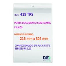 Protetores Transparentes - Em PVC com ilhós para pendurar - C/ tampa e ilhós - A4  (Ref. 419) - Embalagem com 50 unidades