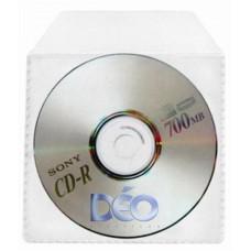 Protetores Transparentes - P/ CD / DVD - P/ mini CD c/ tampa (Ref. 609) - Embalagem com 50 unidades